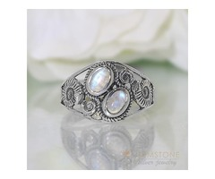 Moonstone Ring Watchful Protector-GSJ