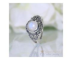 Moonstone Ring Shielded Beauty-GSJ