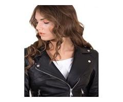 Buy Women's Leather Belt Jacket