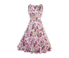 Tidebuy Floral Sleeveless Womens Dress