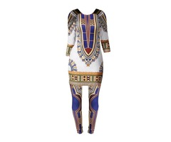 Dashiki Pullover and Pants Womens Suit
