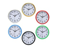Six Colors Vintage Round Modern Home Bedroom Time Kitchen Wall Clock