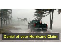 Denial of your hurricane claim