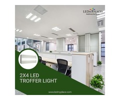 Install 2x4 LED Troffer Light Fixture For Your Commercial Space