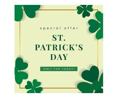 Enjoy the best St. Patrick's Day deals & offers, only with Kiindly!