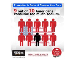 9 out of 10 Americans consume too much sodium.