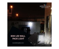 Install 80w LED Wall Pack Light at the Outdoor Locations