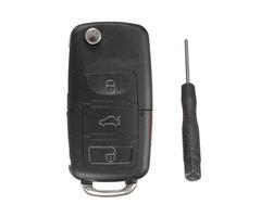 Remote Flip Key Fob Shell Case For VW Golf Passta  Beetle Jetta GL