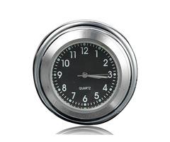 7/8 Universal Chrome Motorcycle Waterproof Handlebar Mount Clock