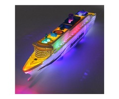 Ocean Liner Ship Boat Electric Toy Flash LED Lights Sounds Kid Gift