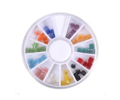3D Gems Cone Stud Crystal Beads Stone Nail Art Decoration Wheel