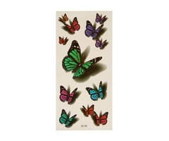 3D Butterfly Flying Design Temporary Tattoo Sticker Decal | free-classifieds-usa.com
