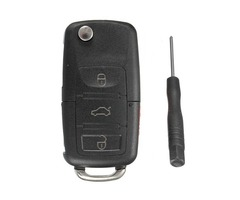 Remote Flip Key Fob Shell Case For VW Golf Passta  Beetle Jetta GL