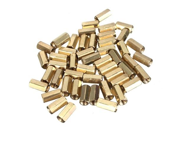 50pcs M3 10mm Double Pass Hollow Hex Copper Ferrule Cylinder Piller | free-classifieds-usa.com