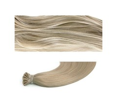 STICK TIP / I-TIP PRE-BONDED HAIR EXTENSIONS - #18 ASH BLONDE 50G LENGTH 20""