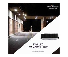 Install Eco-Friendly Products, 45w Canopy Lights at the Gas Stations