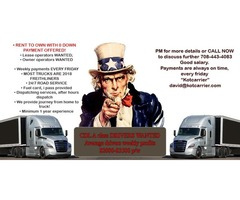 CDL A class DRIVERS WANTED $2000-$3500 p/w BE  YOUR OWN BOSS