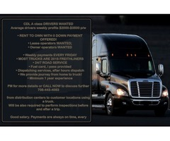 CDL A class DRIVERS WANTED $2000-$3500 p/w BE  YOUR OWN BOSS | free-classifieds-usa.com