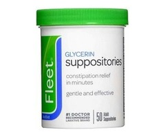 Fleet adult glycerin suppositories 50-count
