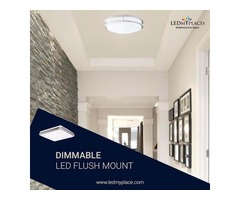 Install Dimmable LED Flush Mount To Make Hotels More Attractive