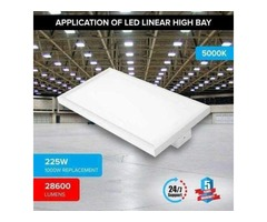 Commercial Lighting For Your Reserved Office Space With The 4ft LED Linear High Bay 225w 5000k