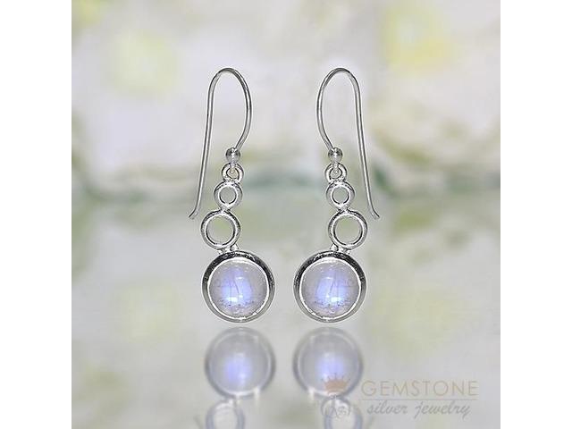 Moonstone Earring - BUBBLE LEAF - GSJ | free-classifieds-usa.com
