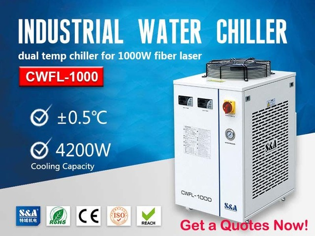 Closed Loop Water Chiller Unit for 1000W Fiber Laser Cutting Machine | free-classifieds-usa.com