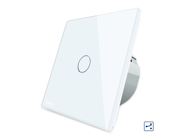 Livolo White Glass Touch Panel EU Standard Intermediate Switch VL-C701S-11 | free-classifieds-usa.com