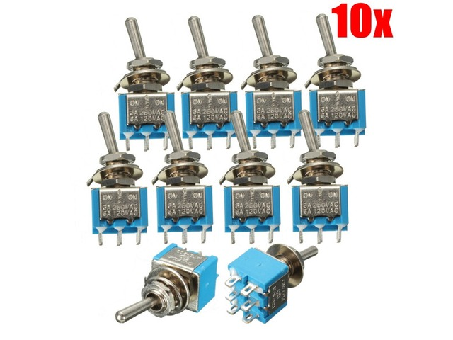 10ps 6 Pins 3 Position 3A 250V/6A 120V ON/OFF/ON Toggle Switch | free-classifieds-usa.com