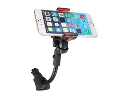 USB Car Cigarette Lighter Charger Clip Mount Holder For iPhone Samsung