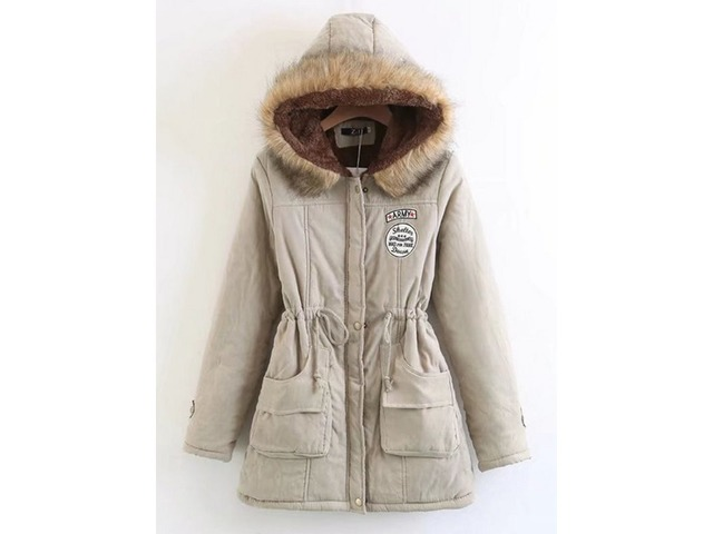 Hooded Lace-Up Mid-Length Womens Coat | free-classifieds-usa.com