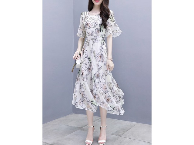 Tidebuy Print Floral Pullover Womens Maxi Dress | free-classifieds-usa.com