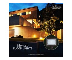 Fix Dlc Approved 15w LED Flood Lights At The Outdoor Places