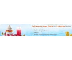 Hire Soft Serve Ice Cream Machines, Ice Machine, & Slushie Rental Services on Rent in NJ