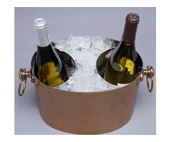 Duo copper-2-Bottle handcrafted Wine Chiller