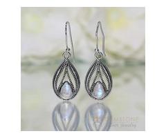 Moonstone Earring - SPLENDID TWINE - GSJ