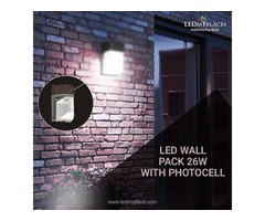 Install LED Wall Pack Lights Water and Dust Resistant
