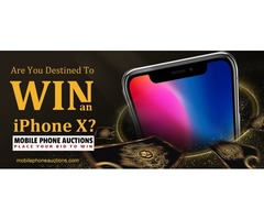 Get ready for this amazing chance of Winning a bid for the new iPhone X