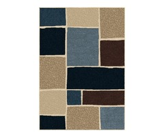 Blue Striped Indoor Outdoor Rug | Shoppypal