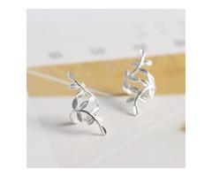Sterling Silver Olive Leaf Ear Cuffs