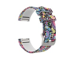 Fitbit Charge 2 Band, Soft Silicone Adjustable Replacement Camouflage Printed Sport Strap