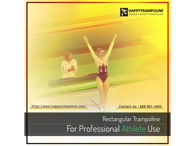 Shop Gymnastics Trampoline With Net Enclosure Safety Combo | free-classifieds-usa.com