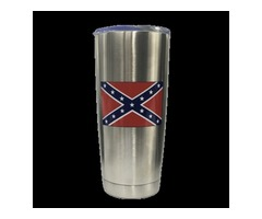 Confederate Flag Steel Tumbler