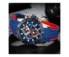 Sports Water-resistant Silicone Wristwatch for Men