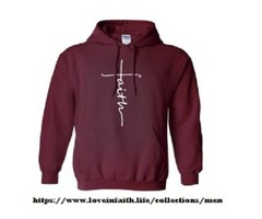 Wonderful Faith Cross Hoodie Available In More Than Five Amazing Colors