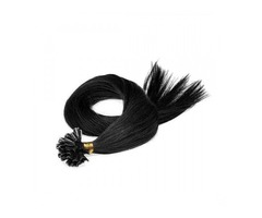 "FUSION PRE-BONDED U-TIP HAIR EXTENSIONS #1 JET BLACK 50 GRAMS/QTY LENGTH 20""/22""/24"""
