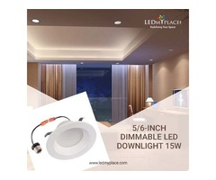 Install 5/6'' Dimmable LED Downlight At The Commercial Places
