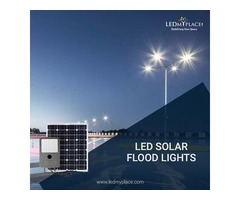 Installing Energy Efficient 60w LED Solar Flood Light At Outdoor Locations