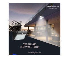 Install Eco-Friendly 5w Solar LED Wall Packs At The Commercial Places
