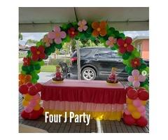 Four J Party has provided tent rentals, event rentals, party rentals